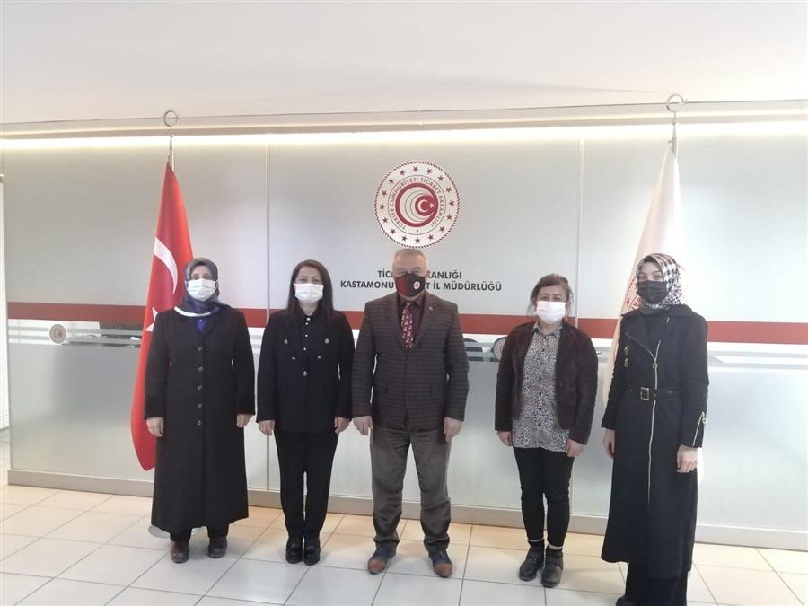Kastamonu Ak Parti Kadın Kolları İl Başkanı Sn. Neslihan KAYA TUFAN ve Yönetim Kurulu Üyeleri İl Müdürlüğümüze ziyarette bulundular.